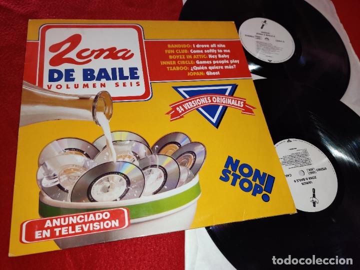 ZONA DE BAILE 6 2LP 1994 DRO SPAIN ESPAÑA RECOPILATORIO BANDIDO+FUN CLUB+BOYZZ IN ATTIC+ETC (Música - Discos - LP Vinilo - Disco y Dance)