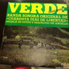 Discos de vinilo: CUARENTA DÍAS DE LIBERTAD. BSO. VERDE. Lote 181959393