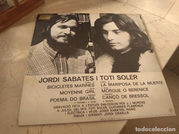 Discos de vinilo: Disco vinilo Jordi Sabatés i Tito Soler año 1973 Edigsa - Foto 2 - 181985547