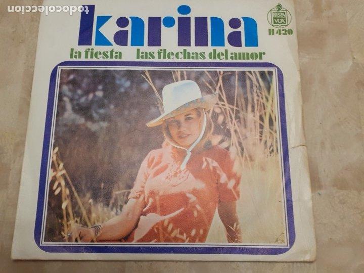DISCO DE KARINA LAS FLECHAS DEL AMOR (Música - Discos de Vinilo - Maxi Singles - Solistas Españoles de los 50 y 60)