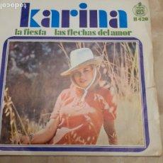Discos de vinilo: DISCO DE KARINA LAS FLECHAS DEL AMOR. Lote 181990960