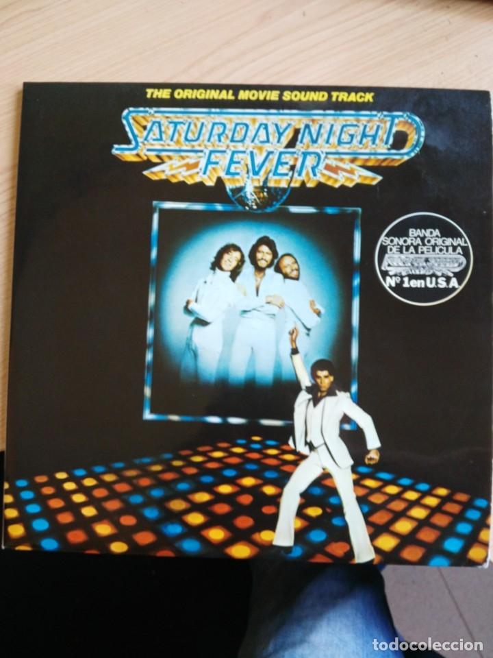 VINILO DOBLE LP FIEBRE DEL SABADO NOCHE (Música - Discos de Vinilo - EPs - Pop - Rock Extranjero de los 70)