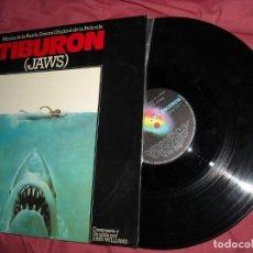 Discos de vinilo: TIBURON -JAWS- SPIELBERG LP BANDA SONORA ORIGINAL MUSICA JOHN WILLIAMS SPA 1975. Lote 181998545