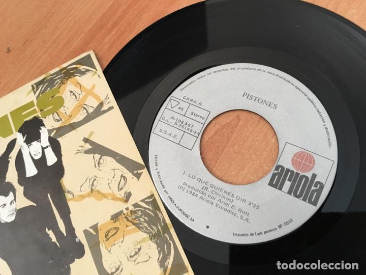 Discos de vinilo: PISTONES (LO QUE QUIERES OIR) SINGLE SPAIN 1984 (EPI04) - Foto 2 - 182006805