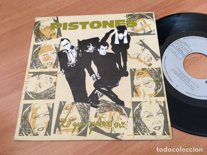 Discos de vinilo: PISTONES (LO QUE QUIERES OIR) SINGLE SPAIN 1984 (EPI04) - Foto 1 - 182006805