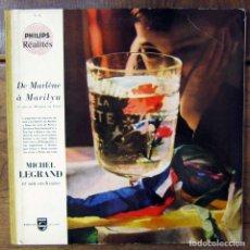 Discos de vinilo: MICHEL LEGRAND - DE MARLENE DIETRICH A MARILYN MONROE - 1957 -PHILIPS REALITES, NUMERADO, BORIS VIAN. Lote 182007756