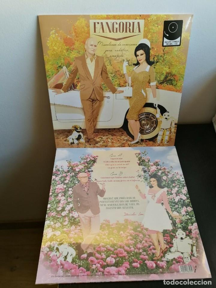 Discos de vinilo: LP FANGORIA - MISCELANEA DE CANCIONES PARA ROBOTICA AVANZADA - LP+CD - ALASKA - Foto 2 - 182008577