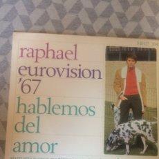 Discos de vinilo: LOTE 2 SINGLES RAPHAEL. Lote 182008843