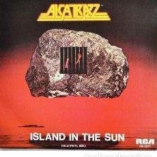 Discos de vinilo: ALCATRAZZ - ISLAND IN THE SUN / GENERAL HOSPITAL (1983) SINGLE NUEVO A ESTRENAR. Lote 182012665