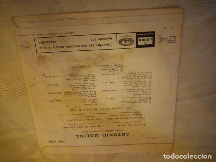 Discos de vinilo: EP / ASI CANTA ANTONIO MOLINA / LA ROSA DEL PENAL +3 / 1958 - Foto 3 - 182030616
