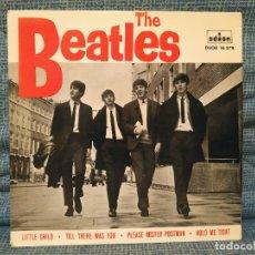 Discos de vinilo: THE BEATLES - LITTLE CHILD + 3 - RARO EP ODEON - DSOE 16.578 EN EXCELENTE ESTADO, VER FOTOS. Lote 182030861