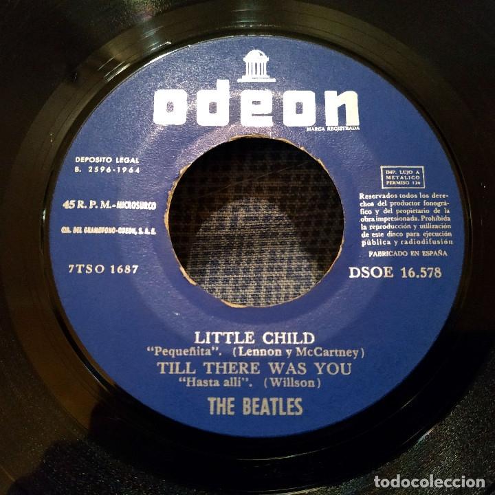 Discos de vinilo: The Beatles - Little child + 3 - Raro EP Odeon - DSOE 16.578 en excelente estado, ver fotos - Foto 3 - 182030861