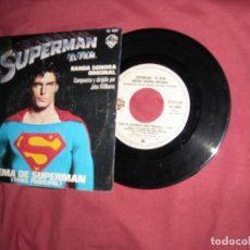 Discos de vinilo: SUPERMAN SINGLE . BANDA SONORA ORIGINAL. TEMA PRINCIPAL. TEMA DE AMOR. SPA 1976. Lote 182039573