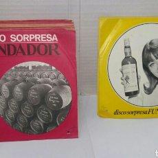 Discos de vinilo: LOTE 19 DISCO SORPRESA FUNDADOR. SIN USO. EP'S. ENTRE 10115 Y 10177. NINGUNO REPETIDO.. Lote 182046670