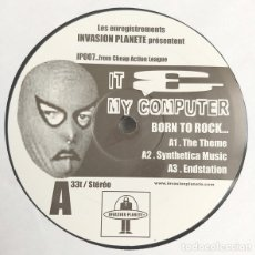 Discos de vinilo: IT & MY COMPUTER / PORN.DARSTELLER ‎– FROM CHEAP ACTION LEAGUE. Lote 182049986