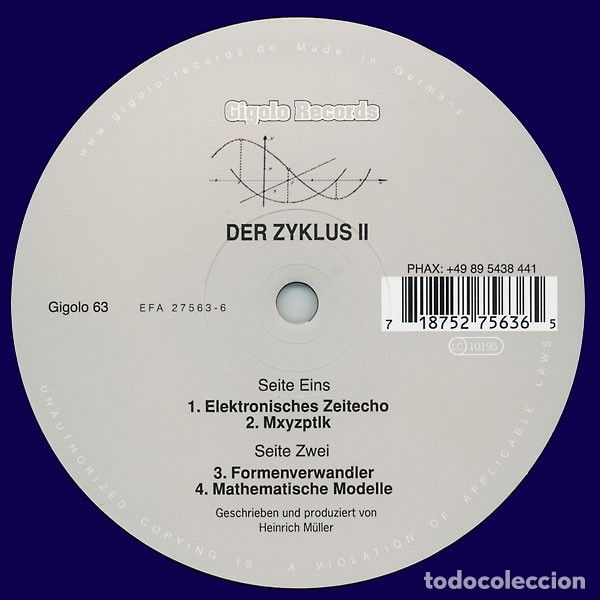 DER ZYKLUS-DER ZYKLUSII (Música - Discos de Vinilo - EPs - Electrónica, Avantgarde y Experimental)
