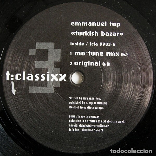 EMMANUEL TOP – TURKISH BAZAR (Música - Discos de Vinilo - EPs - Techno, Trance y House)