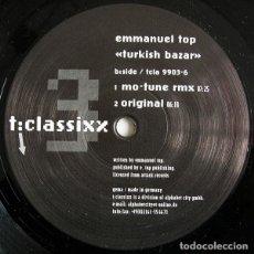 Discos de vinilo: EMMANUEL TOP – TURKISH BAZAR. Lote 182051227