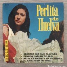 Discos de vinilo: PERLITA DE HUELVA - 1967. Lote 182054806