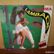 Discos de vinilo: KAOMA - LAMBADA - MAXI-SINGLE. Lote 182061280