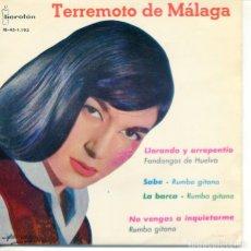 Discos de vinilo: TERREMOTO DE MALAGA / LA BARCA / SABE / NO VENGAS A INQUIETARME + 1 (EP 1961). Lote 182061293