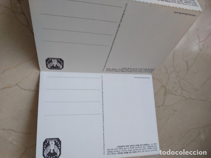 Discos de vinilo: Lote antiguas postales Rolling Stones año 1972 Jail on Main Srreet. Excelente conservacion - Foto 8 - 182062547