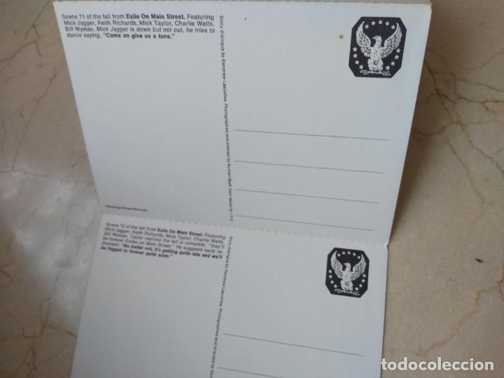 Discos de vinilo: Lote antiguas postales Rolling Stones año 1972 Jail on Main Srreet. Excelente conservacion - Foto 9 - 182062547