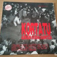 Discos de vinilo: LP KORTATU AZKEN GUDA DANTZA NOLA LIBRETO . Lote 182065645