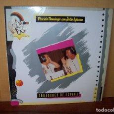 Discos de vinilo: PLACIDO DOMINGO CON JULIO IGLESIAS - SOÑADORES DE ESPAÑA - MAXI SINGLE . Lote 182066281