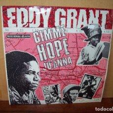 Discos de vinilo: EDDY GRANT - GIMME HOPE JO'ANNA - MAXI-SINGLE. Lote 182066857