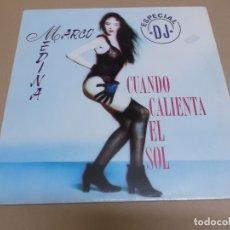 Discos de vinilo: MARCO MEDINA (MAXI) CUANDO CALIENTA EL SOL +2 TRACKS AÑO – 1992. Lote 182067468