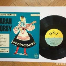 Discos de vinilo: VINILO 25 CMS. : SARAH GORBY: CHANSONS RUSSES (OSI, 1960'S) ¡ORIGINAL! RARO. Lote 182071283