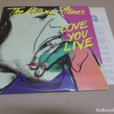 Discos de vinil: THE ROLLING STONES (LP) LOVE YOU LIVE AÑO – 1977 – DOBLE DISCO CON PORTADA ABIERTA + HOJA PROMOCIONA. Lote 182071642