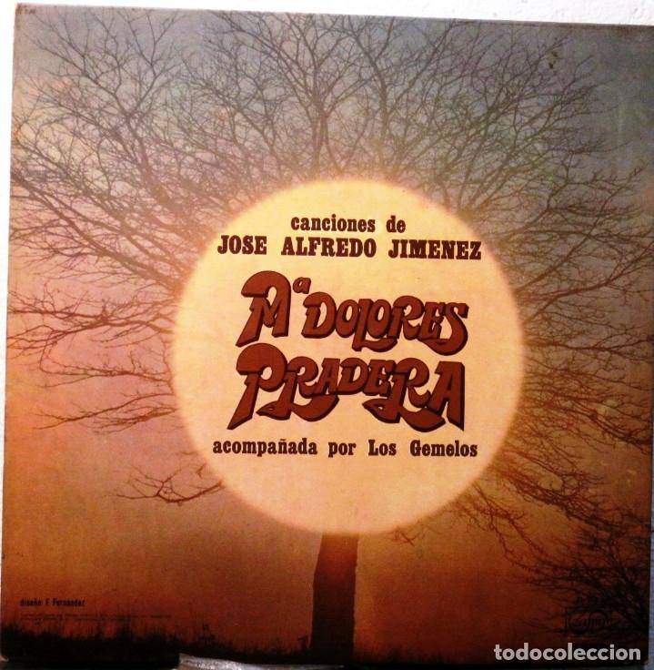 Discos de vinilo: Mª DOLORES PRADERA - Y LOS GEMELOS - CANCIONES DE JOSE A. JIMENEZ - ALBUM -LP - Foto 2 - 182074086