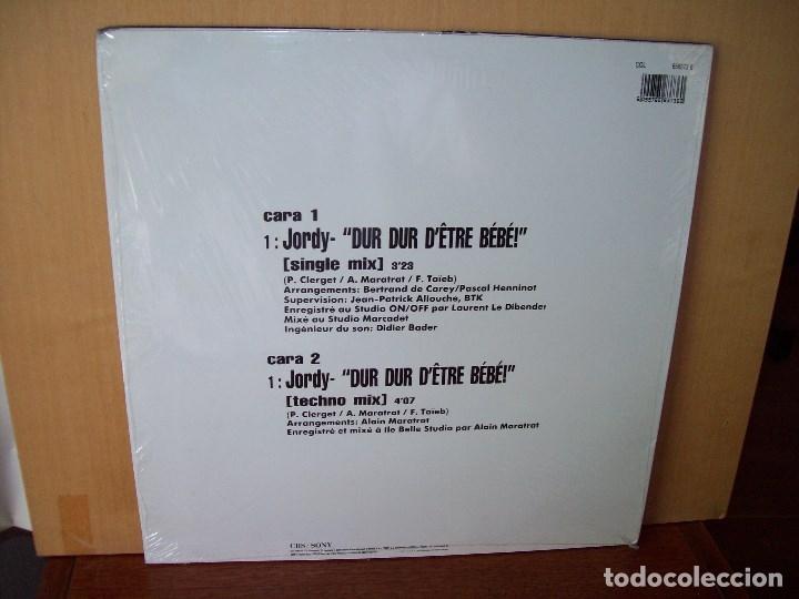 Discos de vinilo: JORDY - DUR DUR DETRE BEBE - MAXI-SINGLE - Foto 2 - 182075240
