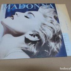 Discos de vinilo: MADONNA (LP) TRUE BLUE AÑO – 1986 – ENCARTE CON LETRAS. Lote 182075256