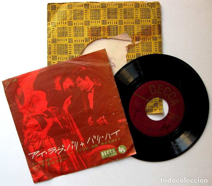 BING CROSBY - I LOVE PARIS (CAN-CAN) / BALI HA'I (SOUTH PACIFIC) - SINGLE DECCA 1960 JAPAN BPY (Música - Discos - Singles Vinilo - Bandas Sonoras y Actores)
