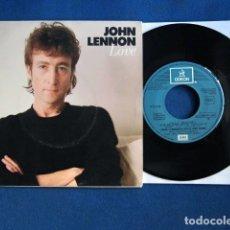 Discos de vinilo: BEATLES JOHN LENNON PROMOCIONAL GRANDES EXITOS EMI ESPAÑA NUEVO MARAVILLA LABEL. Lote 182083100