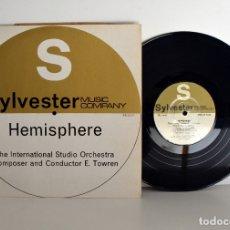 Discos de vinilo: SYLVESTER MUSICAL LIBRARIES - INTERNATIONAL STUDIO ORCHESTRA, HEMISPHERE, 10PULGADAS NM/EX. Lote 182090443