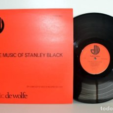 Discos de vinilo: MUSIC DE WOLFE, THE MUSIC OF STANLEY BLACK DW/LP2977, BIBLIOTECAS MUSICALES NM/EX. Lote 182093617