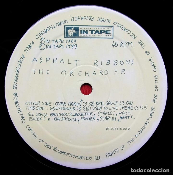 Discos de vinilo: ASPHALT RIBBONS. THE ORCHARDER. EP. VINILO. AÑO: 1989. IN TAPE. INDIE ROCK. - Foto 3 - 182095488