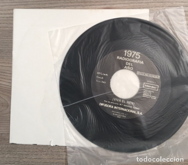Discos de vinilo: FRANCO - LA HISTORIA HA MUERTO / VIVA EL REY - 1976 - Foto 2 - 182103907