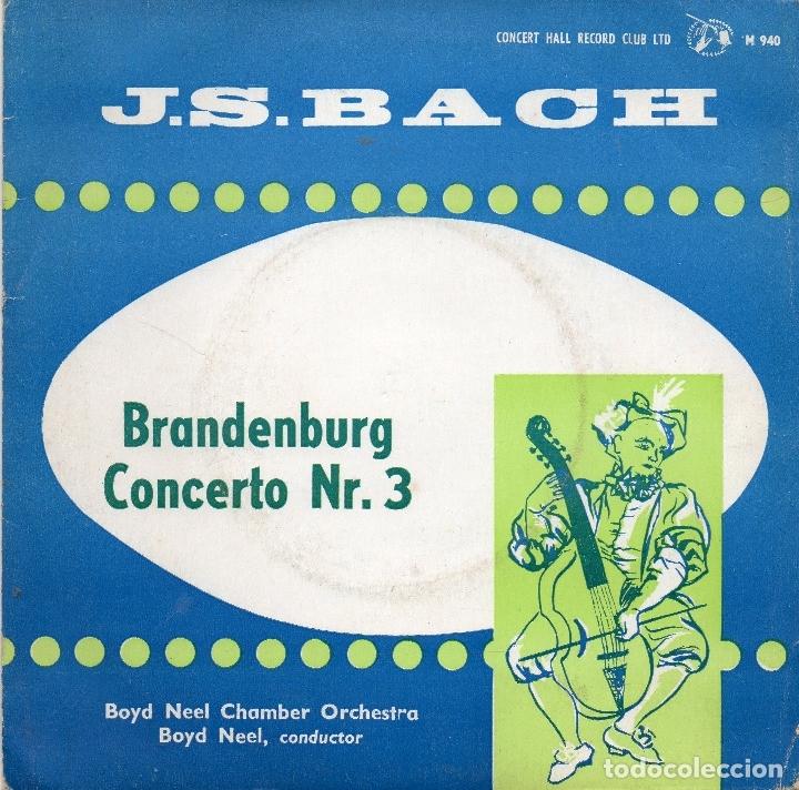 J.S BACH - BRANDENBURG CONCERTO NR.3 - SINGLE (Música - Discos - Singles Vinilo - Clásica, Ópera, Zarzuela y Marchas)