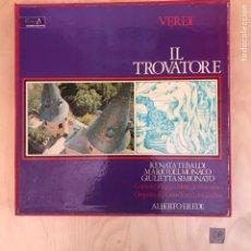 Discos de vinilo: CAJA VERDI IL TROVARORE. Lote 182114651