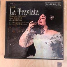 Discos de vinilo: CAJA - LA TRAVIATA. Lote 182115248