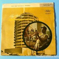 Discos de vinilo: RAY ANTHONY (SINGLE 1959) JAM SESSION AT THE TOWER - HOW HIGH THE MOON - PERDIDO - JAZZ -BUEN ESTADO. Lote 182116986