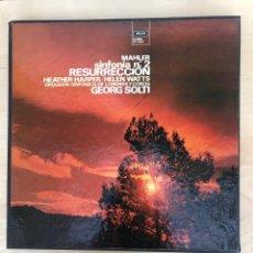 Discos de vinilo: CAJA - MAHLER SINFONÍA 2 - RESURRECCION. Lote 182124825