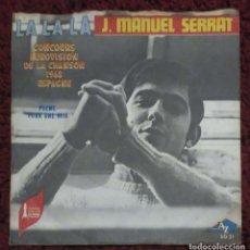 Discos de vinilo: JOAN MANUEL SERRAT (LA LA LA / POEME POUR UNE VOIX) SINGLE 1968 FRANCIA. Lote 182155930