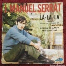 Discos de vinilo: JOAN MANUEL SERRAT (LA LA LA + 2) SINGLE 1968 EDITADO EN FRANCIA & BENELUX. Lote 182156197