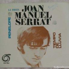 Discos de vinilo: JOAN MANUEL SERRAT (PENELOPE - LA FIESTA - TIEMPO DE LLUVIA) EP PORTUGAL RODA. Lote 182156476